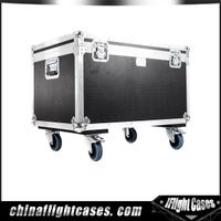 Aluminum Hardwares Laminated Tool Flight cases Fireproof Waterproof Custome Casters