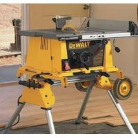 "DeWALT - 10"" Compact Job Site Table Saw w/ Rolling Stand - DW744XRS"