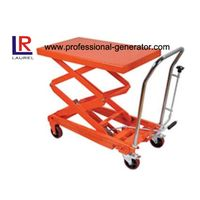 350kg Mini Lift Platform Manual Hydraulic Hand Table Truck , Mobile Industrial Handing Tools