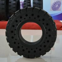 solid resilient forklift tyre with side hole 6.50-10/5.00 thumbnail image