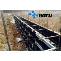 Plastic modular formwork system for construction