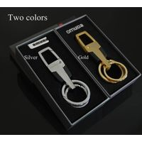 Metal Golden Fancy Quality Man Style Business Gift Keychain
