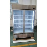 Stainless Steel Glass Door Kitchen Refrigerator with Auto-Defrost System