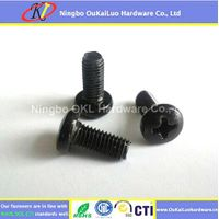 Black Zinc Plated Phillips Pan Head Trilobular Thread Forming Screws
