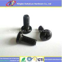 Black Zinc Plated Phillips Pan Head Trilobular Thread Forming Screws