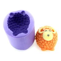 silicone rubber ram soap molds cartoon sheep soap mould