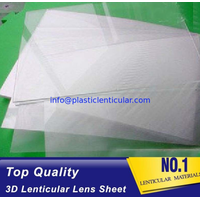 75 LPI lenticular lens 3d PP lenticular sheet 0.45mm plastic 3d lenticular film for promotion sale