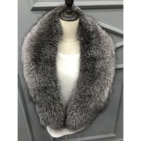 Fur Collar made by genuine fox fur -Blue Frost Fox