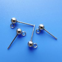 500PCS 4X16MM Stainless steel Earring ball stud