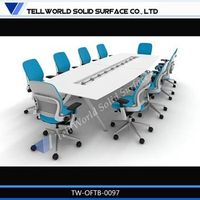 2014 modern fashion acrylic solid surface corian conference desk,TW/OEM Brand