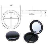 cosmetics packing: powder blush grooming eyeshadow brow powder case