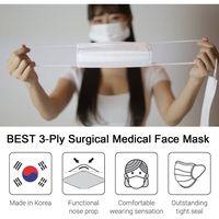 3-Ply Disposable Surgical Medical Face Masks Korea EN14683 Type IIR ASTM Level 2 FDA CE ISO Korea