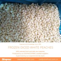 IQF Frozen Diced White Peaches