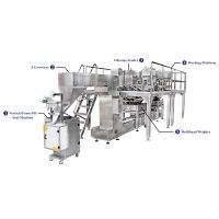 High Productivity Mixing Products Packing Machine with Multihead Weigher for Snacks Food