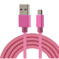 Ultra Strong Strong Metal Spring Micro Usb Cable Bulk