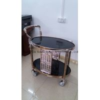oval metal serving tea trolley cart,liquor cart,wine truck B-096