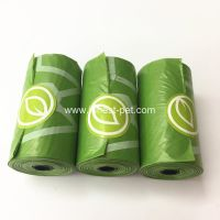 Green color dog product pet poop waste plastic bag