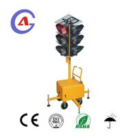 movable full ball 4 side led solar traffic signal light