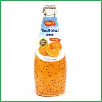 Best Price Basil Seed Drink With Orange Flavor in 290ml Bottle