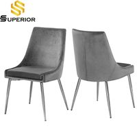 Simeple design grey stainless steel dining chair thumbnail image