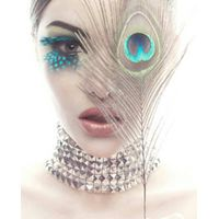 exaggerate feather eyelashes