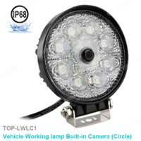 Round LED Flood Light with Built-In Backup Camera (TOP-LWLC1) thumbnail image