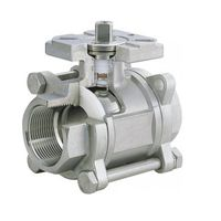 BSP 3PC Ball Valve with Mounting Pad