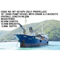 (SELF-PROPELLED) CODE NO. WT-421SPV OF USED SAND PUMP VESSEL/SAND CARRIER (DREDGER)