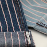 Light Weight Stripe Twill  Light Weight Cotton Spandex Stripe Twill