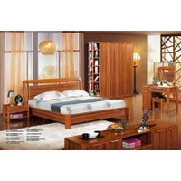 European style solid wood carving antique bedroom set