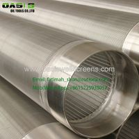Deep well water filter pipe and wedge wire wrapped screen for well