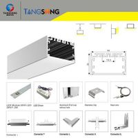 Direct Indirect illumination recessed ceiling 1.8m 36W led linear pendant thumbnail image
