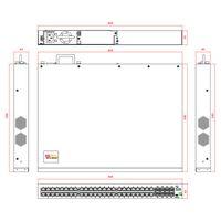 Layer 3 10G Fiber Optic Switch 100/1000M TP 24-Ports + 10G SFP 8-Slots (Model:SFC5200AT) thumbnail image