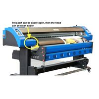 1.8M Eco Solvent Two Epson DX7 Heads Printer 1440Dpi for Printing on Advertising PVC Vinyl thumbnail image