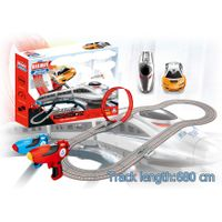 Soba 680cm 1:43 Wireless digital control railway and racing car set slot car toy