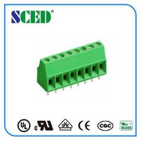 PCB Euro terminal block Green color 2.54mm connector
