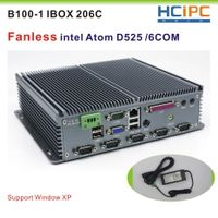 HCIPC B100-1 IBOX 206C Intel Atom525 Fanless industrial PC, industrial computer,Mini BOX PC, With an