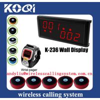 wireless coffee shop waiter call System K-236+K-200C+D1