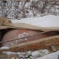 Easy install PVC soft material home biogas plant