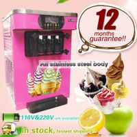 Softy Ice Cream Making Machine Commercial Steel ice cream machine with 3 flavor