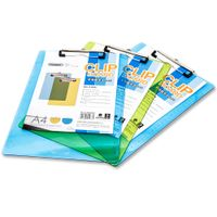 Glosen Plastic Clipboard A4 Size Metal Clip C1078