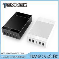universal 5 USB port 5V 8A 40 Watts USB charger EU type socket ac power Multi port USB charger thumbnail image