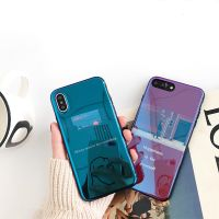 Luxury Blue Light Ray Case For iPhone 6 6s 7 Plus Thin TPU Cover For iPhone 7 6 6s Plus Mirror Phone