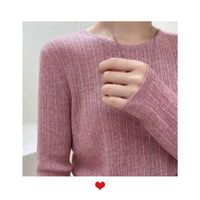 round neck sweater rose red sweater