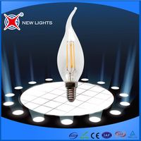 2017 Candle Lights Energy saver 2W/4w 360 degree C35T LED Filament Bulb for crystal lights