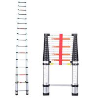 telescopic aluminum folding ladder 4.7m 15.4feet one time folding