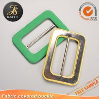 fabric covered pin belt buckle for garment thumbnail image