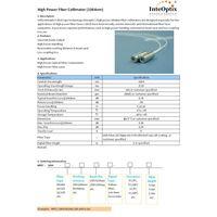 High Power Fiber Collimator (1310, 1550nm)