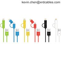 Apple MFI Certified 2 in 1 Dual Connector Lightning to MicroUSB Sync and Charge Cable for Smartphon thumbnail image