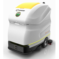 Intelligent floor scrubber robot
